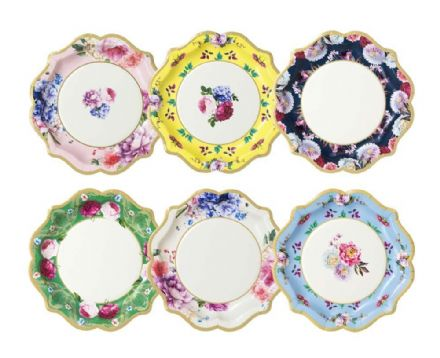 Truly Scrumptious Vintage Floral Paper Plates - Large